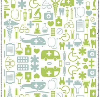 Hospital icons vector collage