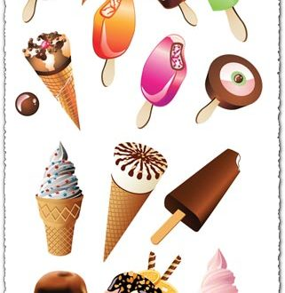 Ice cream vector templates