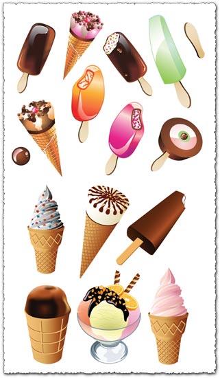 Ice cream cone vectors