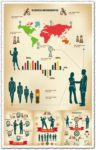 Infographics business concept vectors