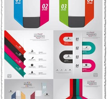 Infographic vector with line charts
