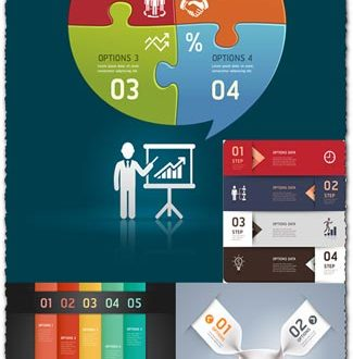 Infographics option labels vector