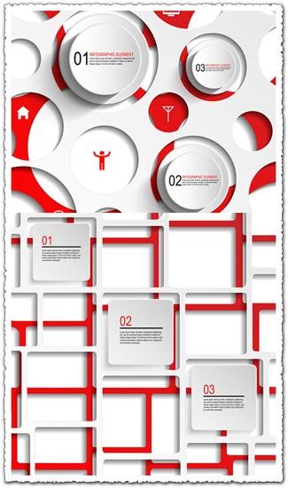 Infographics squares and circles vectors