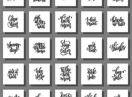 Inspirational calligraphy quotes vectors