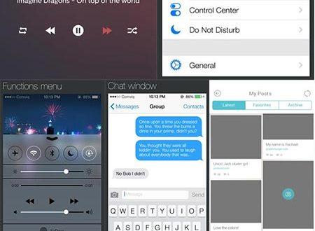 iOS7 UI components design
