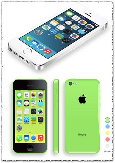 Iphone 5S vector models