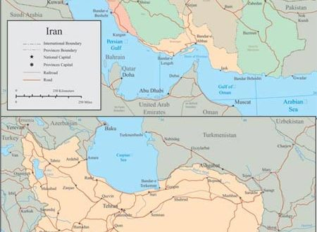Iran vector maps