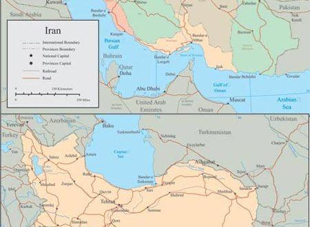 Iran vector maps
