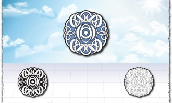 Islamic circle art design