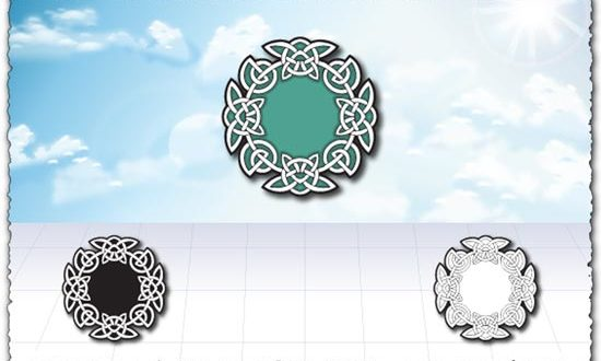 Islamic circle ornament design