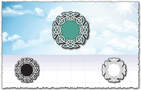 Islamic circle ornament design