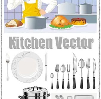 Kitchen vector icons design