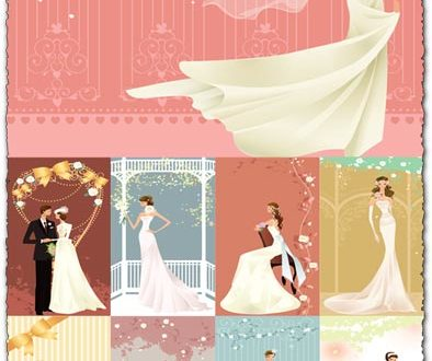 Wedding clippart templates