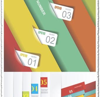 Labels and tags infographics vector