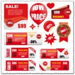 Labels sale stock vector