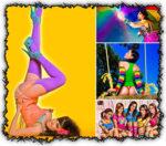 Creative colorful ladies