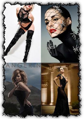 Ladies in black creative photoworks