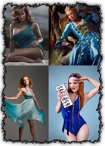 Ladies in blue creative photoworks