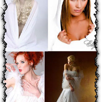 Ladies in white creative photoworks