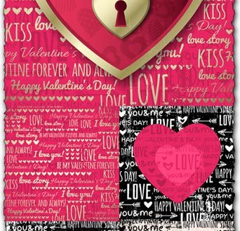 Love from valentines day vectors