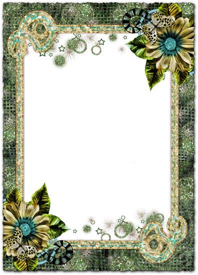 Magic flowers photoshop frames