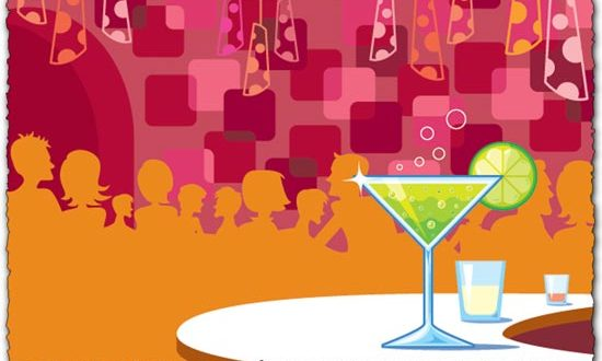 Martini Glass Vector EPS
