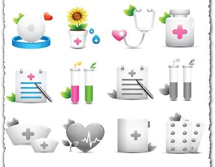 Medical objects vector icons