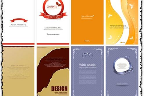 Menu cards vectors