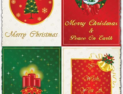 Merry christmas and new year vector cards
