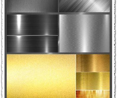 Metallic gradients textures collection
