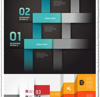 Modern option origami infographics banner