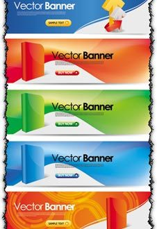 Multimedia vector banners