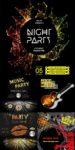 Music poster invitations vector design