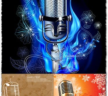 Music microphone vectors