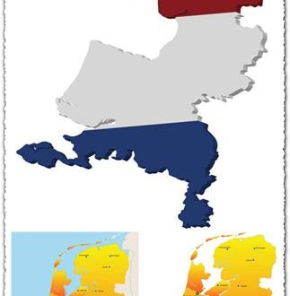 Netherlands vector maps