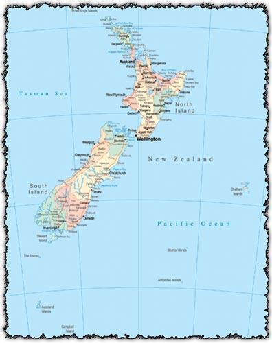 New Zealand vector map