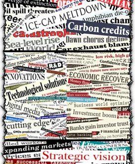 Newspaper headlines collage vectors