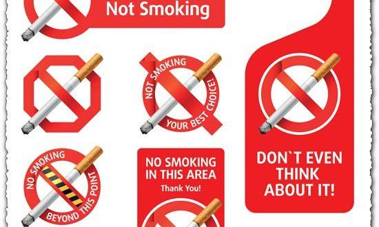 No smoking vector labels