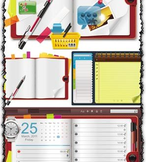Notebook organizer vectors
