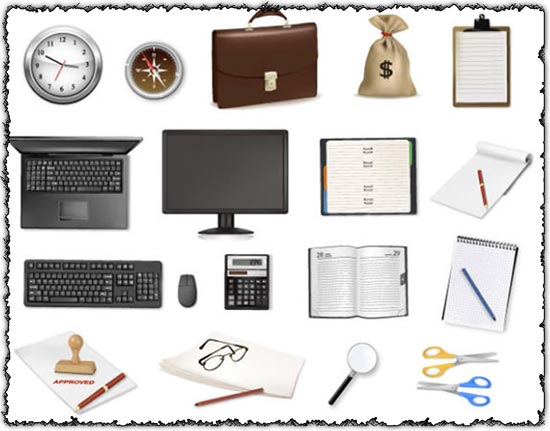 Office objects vectors