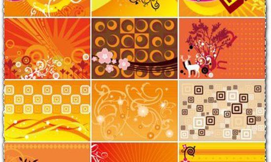 Corel draw orange vectors