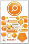 Orange vectors web elements
