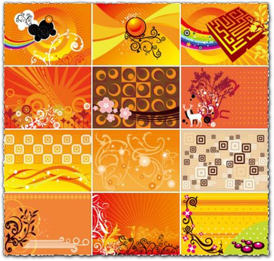 Corel draw orange vectors