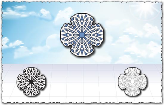Ornamental pattern designs