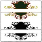 Ornamental heraldic vector labels