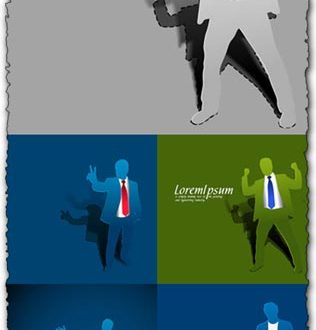 Paper businessman template vectors