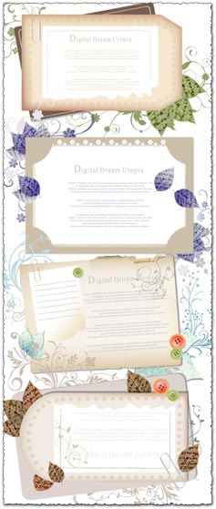 Paper card template design