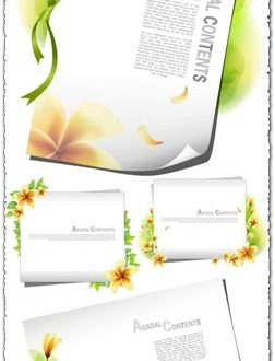Paper card vector background