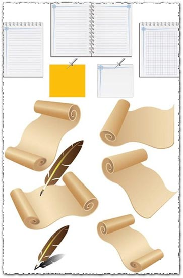 Paper vector elements