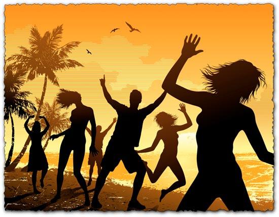 Party beach vector